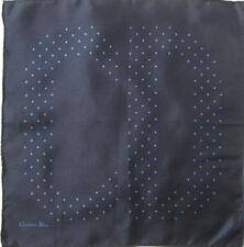 - Foulard tour de cou CHRISTIAN DIOR soie TBEG  vintage scarf  36 x 38 cm