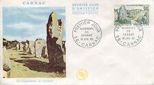FRANCE FDC - 547 1440 1 ALIGNEMENT MENHIRS DE CARNAC - 10 Juillet 1965 - LUXE