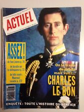 MAGAZINE ACTUEL N°106 AVRIL 1988 // PRINCE CHARLES
