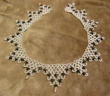 Vintage Handmade Glass Beaded Collar