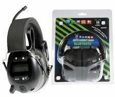 Smart Protection Noise Reducing Earmuffs With Bluetooth, AM/FM Radio, PTL, Clock