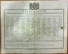 60) Calendarium Schilarum Praetoriae 1815/1816 Ttaurinorum