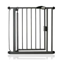 Safetots Auto Close Safety Barrier Pressure Stair Baby Gate Slate Grey 75-82cm