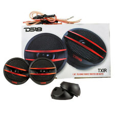 DS18 TX1R Dome Ferrite Tweeters 200 Watts Max 4 Ohm Set of 2 Red Accents