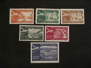 Yugoslavia 1951  Air. Selection.   MNH