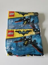 Lot Set of 2 Lego 30524 The Batman Movie The Mini Batwing Polybag New Sealed