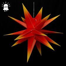 LED estrellas de Adviento Plegable Ø80 exteriores Navidad 18zack rojo/Amarillo