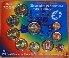manueduc  BLISTER ESPAÑA  2009  FNMT 9 Coins con 2 EUROS 10º Aniversario  UEM
