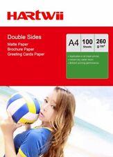 A4 260Gsm Matte Matt Both Side Photo Paper Inkjet Paper  - 100 Sheets Hartwii