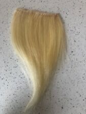 """7"""" Clip In Human Hair Extensions Straight Blonde 4"""" Wide"""