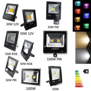 LED Flood Light 30W-100W PIR Sensor AU Plug RGB Waterproof Remote Control Garden