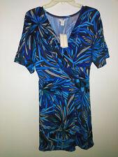 NWT-Jonathan Martin Women's New Blue Brown Green Printed Dress size 6