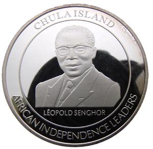 CHULA ISLAND - SOMALIA 100 SHILINGS 2015 LEOPOLD SENGHOR 40mm PROOF COIN