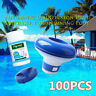 Pool Cleaning Tablet With 100PC Floating Chlorine Tub Chemical Dispenser Cleaner