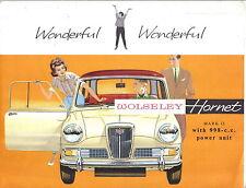 Wolseley Hornet Mk 2 1963-64 Original UK Sales Brochure Pub. No. H&E 6377 (Mini)