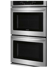 """Frigidaire 27"""" Double Electric Wall Oven Self-Cleaning in Black Stainless Steel"""