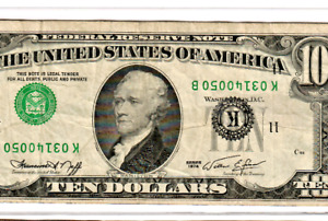 "$10 ""UPSIDE DOWN ERROR"" RARE!! 1974 $10 ""UPSIDE DOWN ERROR"" (DALLAS)UPSIDEDOWN!!"