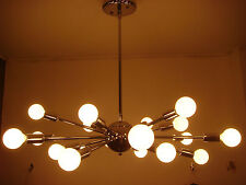 SPUTNIK STARBURST LIGHT FIXTURE POLISHED CHROME BULBS INCLUDED FREE SHIPPING USA