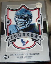 Upper Deck NFL Patch card- Andre Johnson Houston Texans