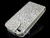 Luxury Sparkle Gem Diamond Bling Flip leather case cover for Apple Samsung Sony