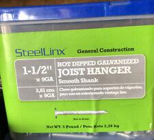"New listing SteelLinx Galvanized Joist Hanger Nails 9 gauge x 1-1/2"" (5lb Box)"