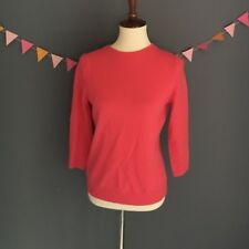 Talbots Women's Sz S 100% Pure Cashmere Long Sleeve Crew Neck Sweater Pink