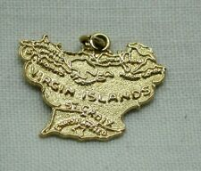 Vintage 14 Carat Gold Virgin Islands Map Charm / Pendant