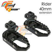 Multi Step Black 40mm Tour Front Foot Pegs Fit Honda VFR1200X 2014
