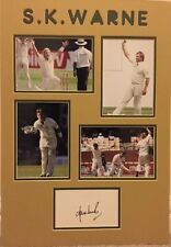 More details for signed & mounted shane warne card australia cricket