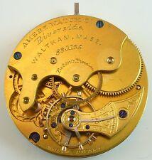 Waltham Pocket Watch Movement - Riverside Model 1873 - Parts / Repair