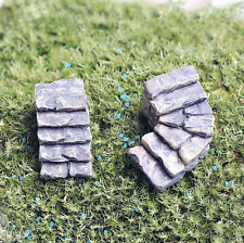 1pcs straight Step Mini Landscape Diy Garden Material Decor Ornament Gray