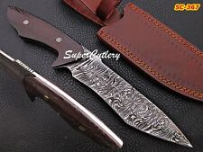 "11"" Custom Handmade Damascus Knife with Vangee Wood and Mosaic Pin Handle"