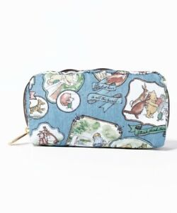 LeSportsac Classic Pooh Denim RECTANGULAR COSMETIC Pouch Japan Limited Print