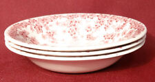 "Crown Ducal Early English Ivy (Joy) Pink 5"" Berry Sauce Bowls Dishes- NICE!"