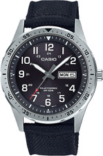 *BRAND NEW* Casio Men's Solar Diver Black Strap Watch MTPS120L-1A
