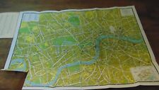 CIRCA 1945 LONDON PICTORIAL MAP GEOGRAPHERS' MAP CO. IN FOLDER