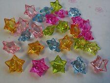 30 Pcs 3D forma Colorido Estrella cuentas con agujero
