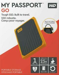 WD My Passport GO 1TB SSD - Amber Yellow - USB 3.0 - External - Western Digital