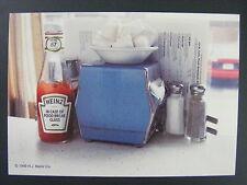 Heinz Ketchup Bottle Diner Table Scene Color Promo Advertising Postcard 1999