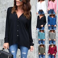 Fashion Women Long Sleeve Chiffon Loose Blouse Casual Shirt Summer Tops T-Shirt