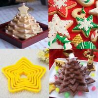 6pcs  3D Star Decoration Cutter Cookie Mould Biscuit Set  Christmas Tree Best