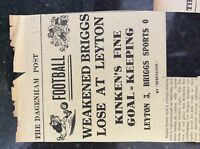 M3-8a ephemera 1941 dagenham article ww2 leyton v briggs sports football report