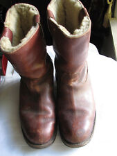 RARE! VINTAGE! BOOTS Size 10 1/2 COTTON OXFORD SHOE MAKER LEICESTER WORK BOOTS