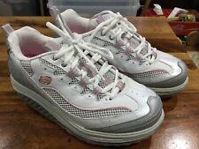 Skechers Shape-Ups Toning shoes Women's size 7.5 White/Silver/Pink Jump Start