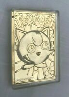 Pokemon 23K Gold Plated Metal Card Jigglypuff Vtg 1999 Nintendo w/ Plastic Case