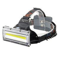 USB Recargable COB LED Faros Faro Linterna Antorcha de Luz de Cabeza