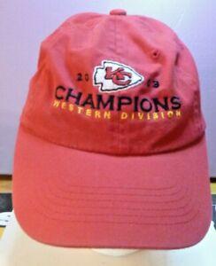 Kansas City Chiefs Red Headmaster 2003 western div Champions hat cap