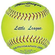 "MacGregor 11"" 6oz Little League Approved Softball 11 Balls"