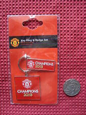 MANCHESTER UNITED OFFICIAL MERCHANDISE *BADGE & KEY RING* PIN - TAG - PENDANT