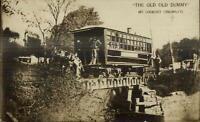 Cincinnati OH Old Dummy Train Trolley c1910 Real Photo Postcard